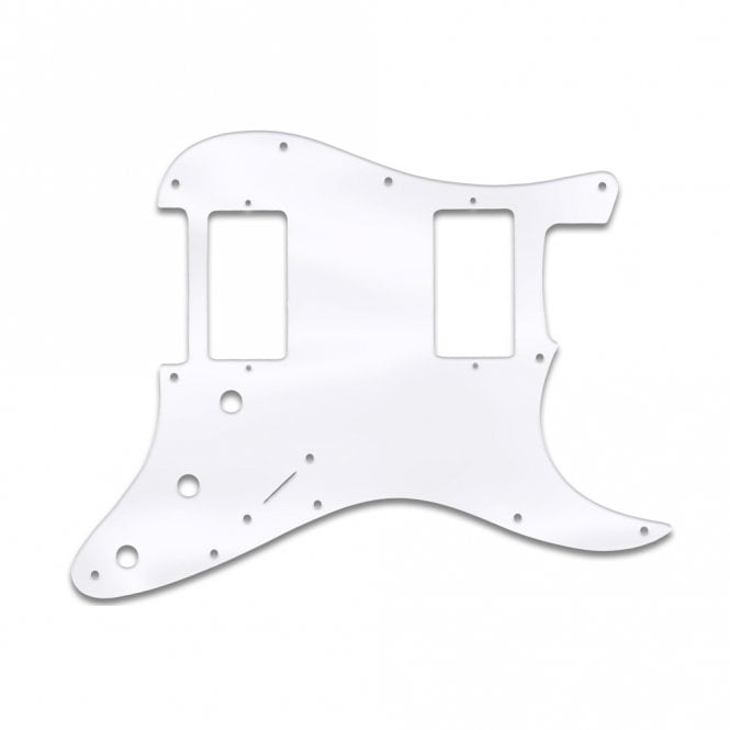 WD Music Strat 2 Hums - Clear Acrylic (.125)
