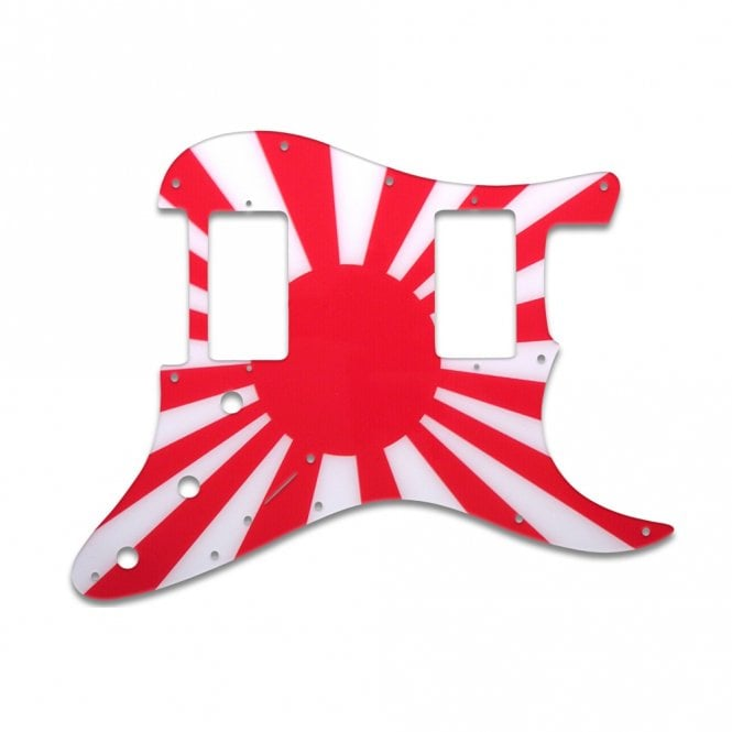 WD Music Strat 2 Hums - Japanese Flag
