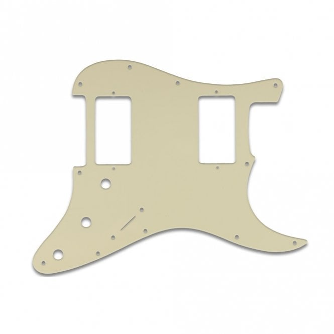 WD Music Strat 2 Hums - Parchment Thin .060