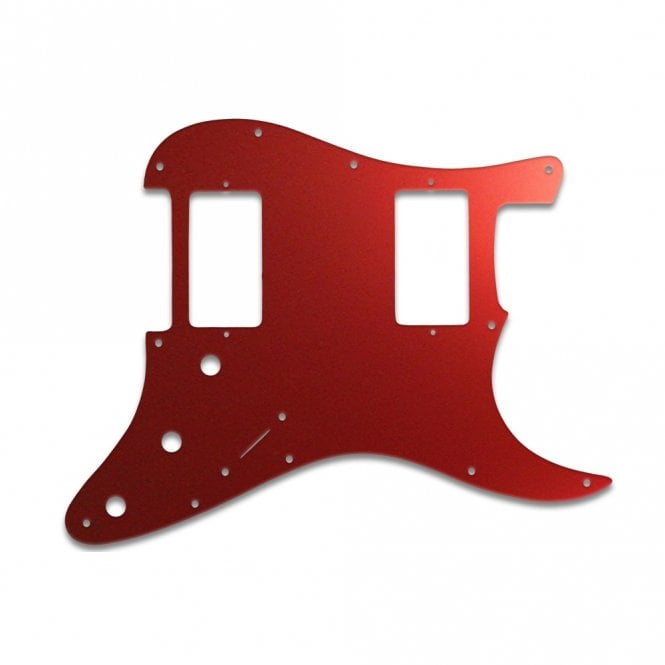 WD Music Strat 2 Hums - Red Mirror