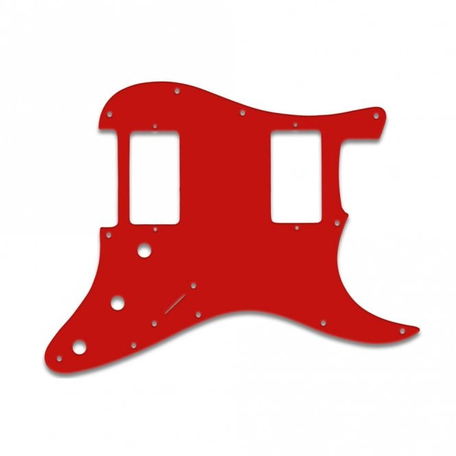 WD Music Strat 2 Hums - Solid Red