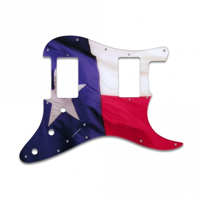WD Music Strat 2 Hums - Texas Flag