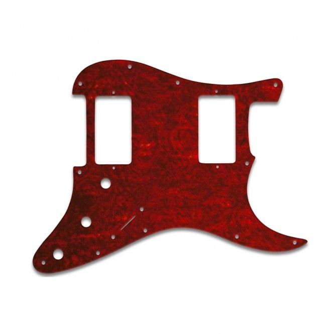Strat 2 Hums - Tortoise Shell Red