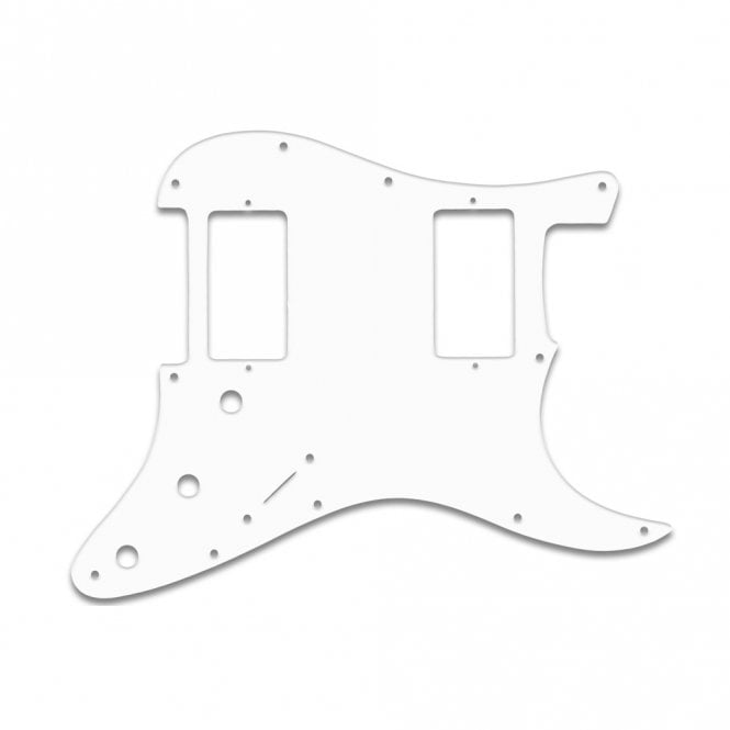 WD Music Strat 2 Hums - White Thin