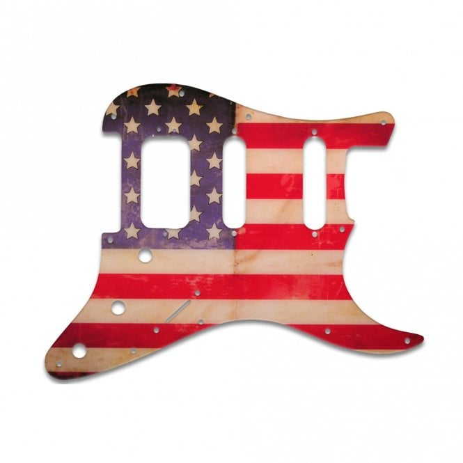WD Music Strat American Deluxe - American Flag Relic