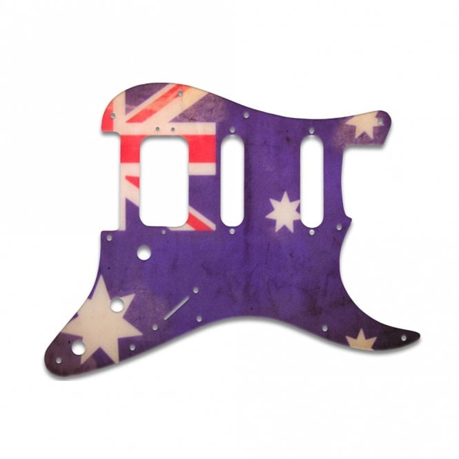 WD Music Strat American Deluxe - Aussie Flag Relic