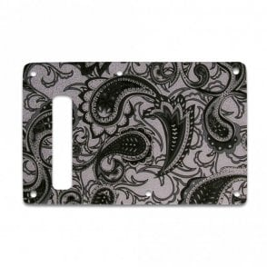 Strat Backplate - Black/Silver Paisley