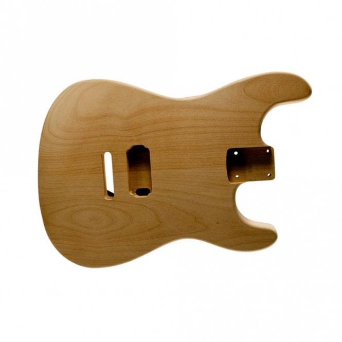 WD Music strat body alder unfinished-1 hum-rear controls