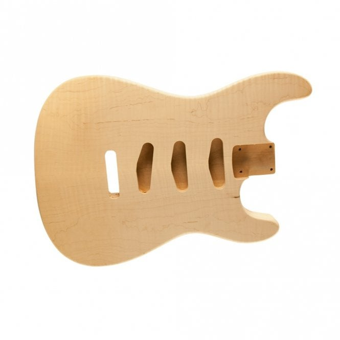 WD Music Strat body flame/alder unfinished- rear controls only