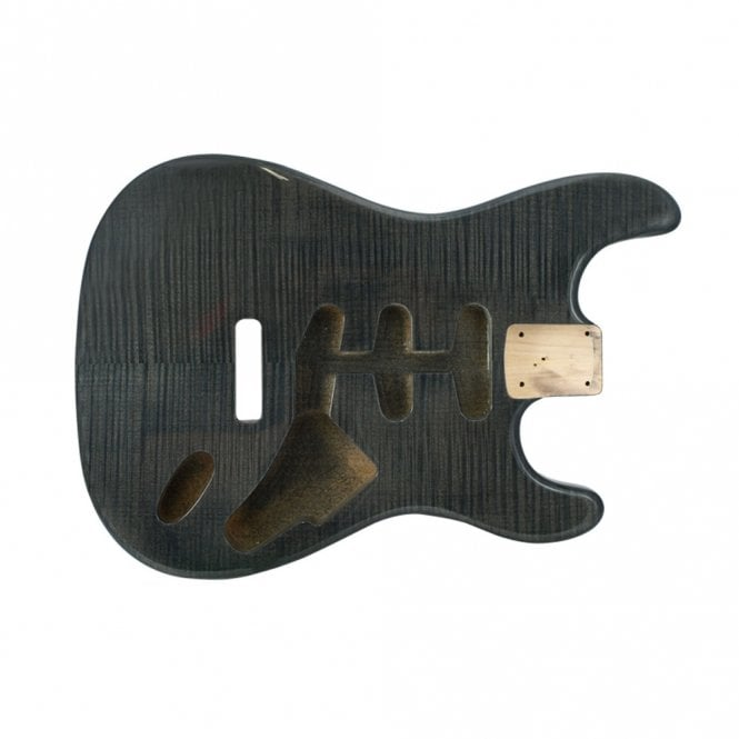 WD Music strat body flame trans black