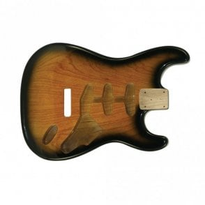 strat body swamp ash tobacco sunburst