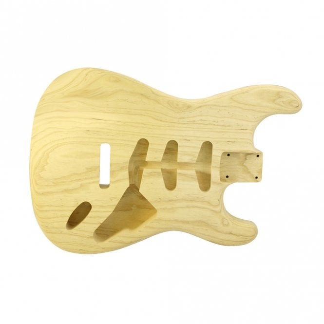 WD Music Strat body swamp ash unfinished-lightweight