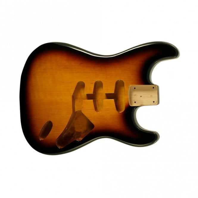 WD Music strat body tabacco sunburst hardtail(no trem cut)