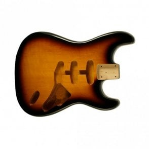 strat body tabacco sunburst hardtail(no trem cut)