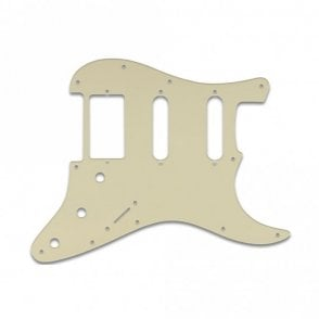 Strat Humbucker Single Single - Parchment Thin .060