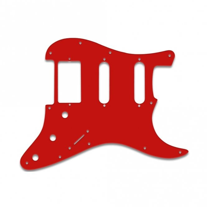 WD Music Strat Humbucker Single Single - Solid Red