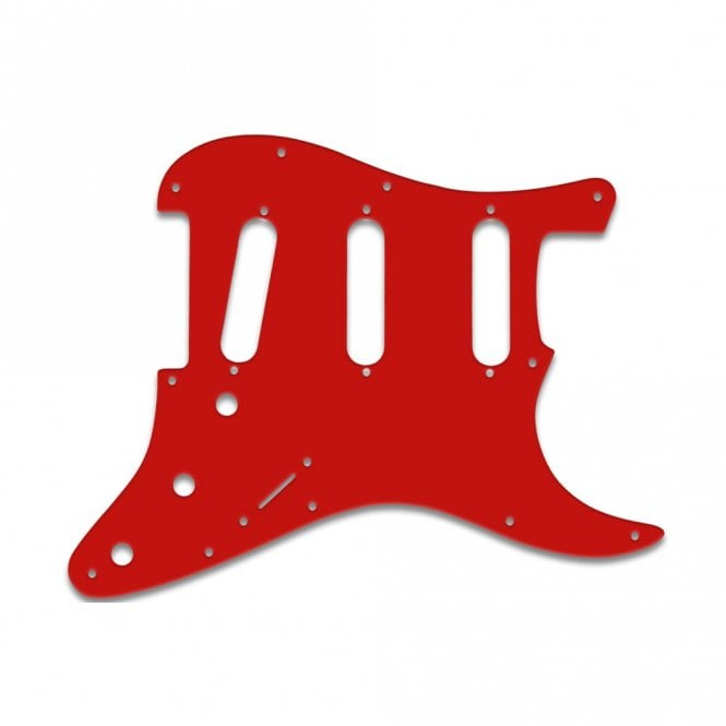 WD Music Strat - Solid Red