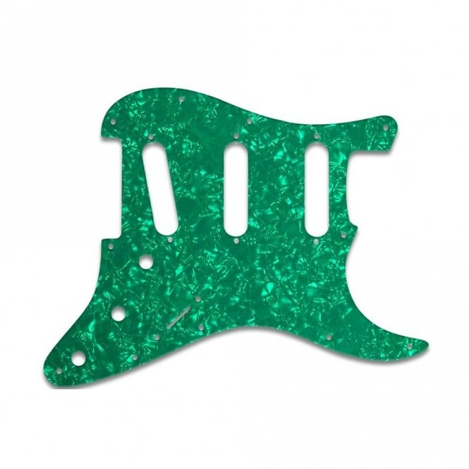 WD Music Strat Voodoo - Green Pearl White/Black/White 3 ply Lamination