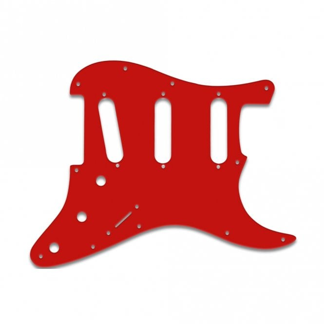 WD Music Strat Voodoo - Red White Red