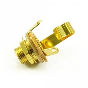"1/4"" Jack Socket Extra Long Thread Gold Plated"