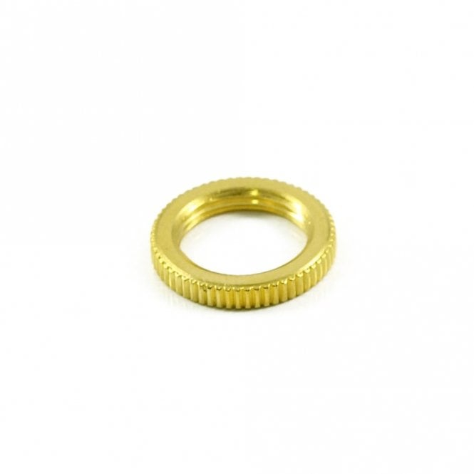 Switchcraft Knurled Toggle Nut Gold