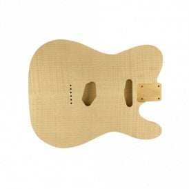 Tele body flame/alder unfinished- rear controls only