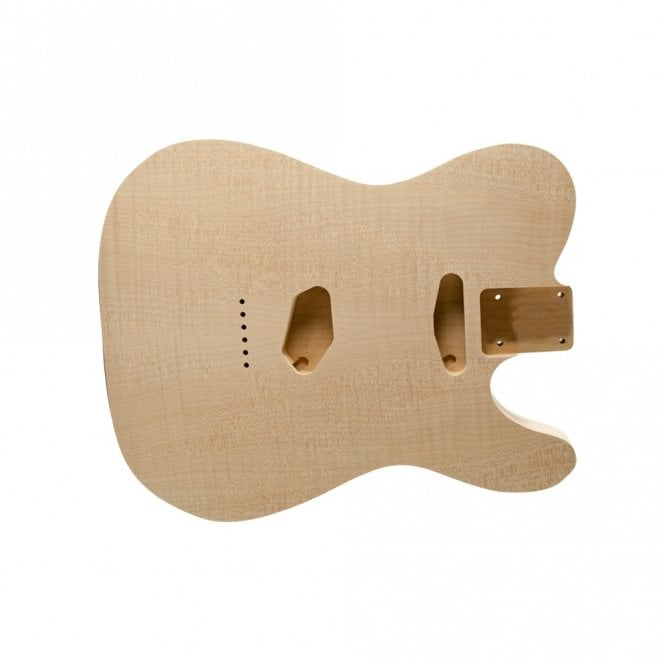 WD Music Tele body hollow flame/alder unfinished