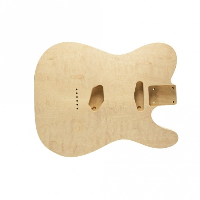 WD Music Tele body hollow quilt/alder unfinished