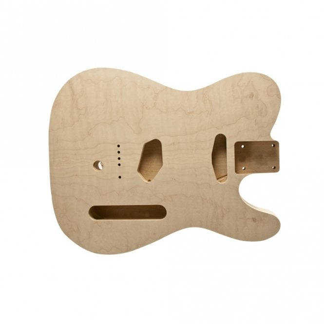 WD Music Tele body unfinished flame/alder cut for B bender