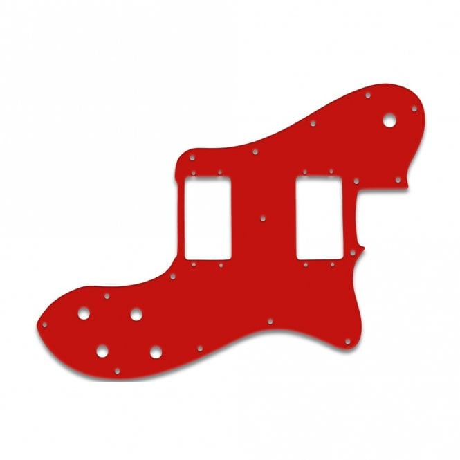 Tele Deluxe - Solid Red