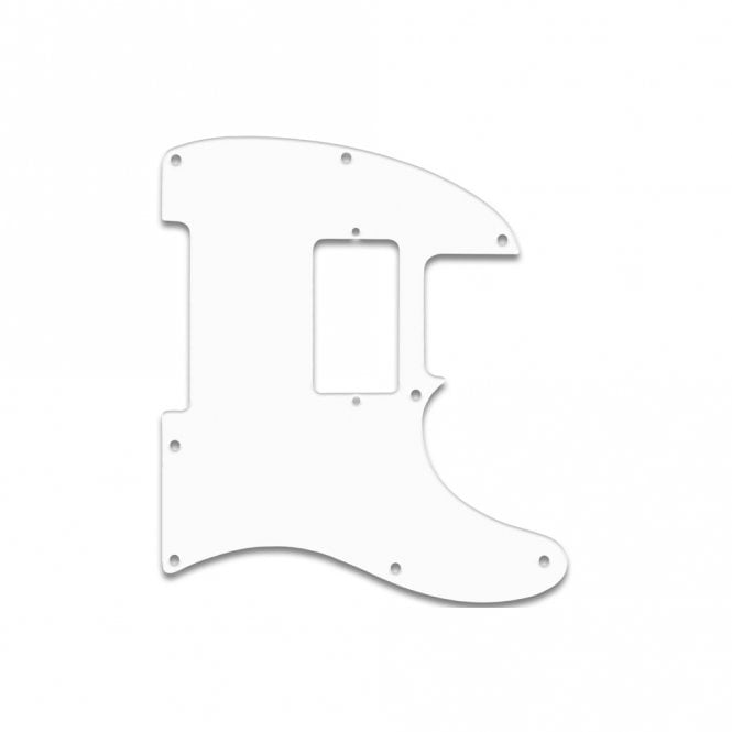 WD Music Tele (No Control Plate Cut) Jim Root Signature - Solid White