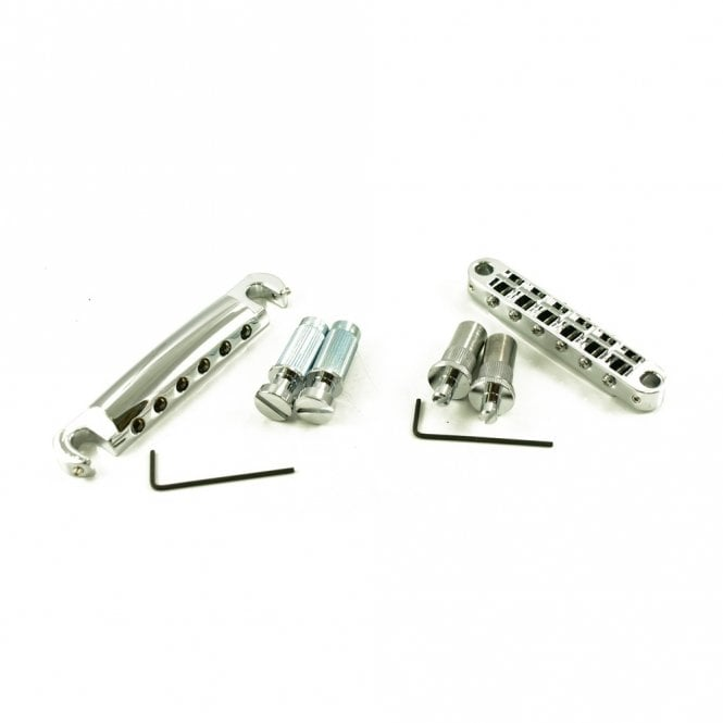 TonePros Locking Metric Tune-O-Matic/Tailpiece Set (Large Posts)
