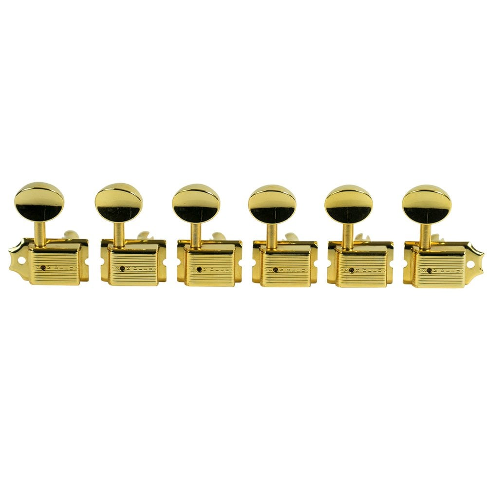Kluson Traditional 6-in-Line Nickel Tuners Right Hand Single Line