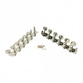 12 String Tuners Set (6 left and 6 right strips) All Chrome