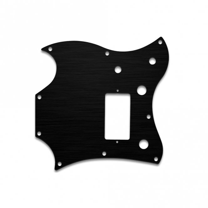 WD Music 2011 Gibson Sg Melody Maker - Black anodised (simulated)