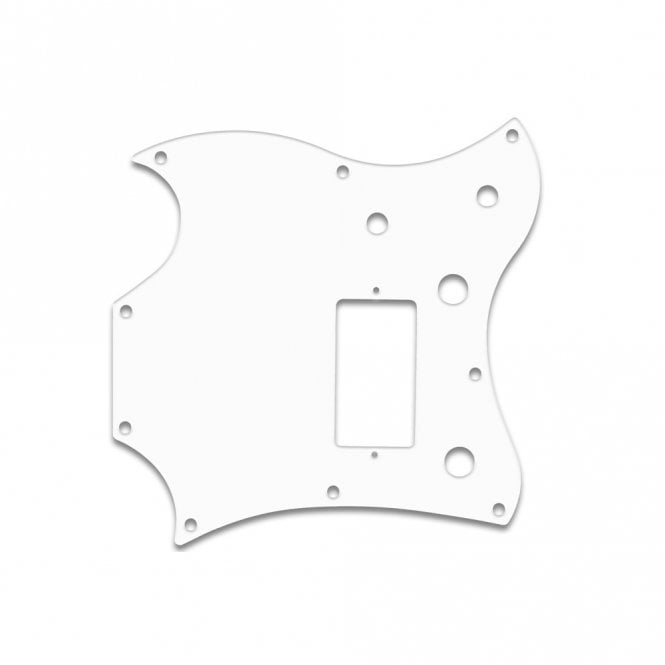 "WD Music 2011 Gibson Sg Melody Maker - Solid Shiny White .090"" / 2.29mm thick, with bevelled edge"