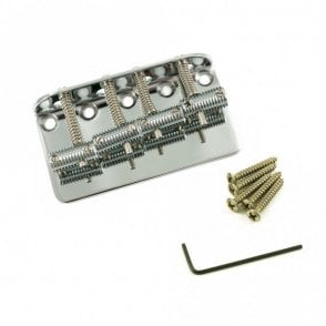 Bass Bridge Knurled Barrel Saddle Chrome