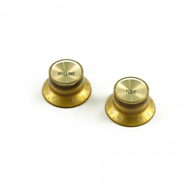 WD Music Bell Knob Set (1 x volume 1 x tone) Gold, USA fit and CTS pots