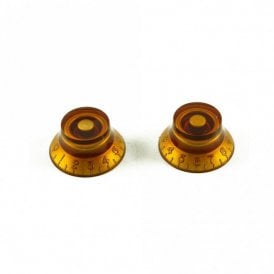 Bell Knob (Set of 2) Amber, USA fit and CTS pots