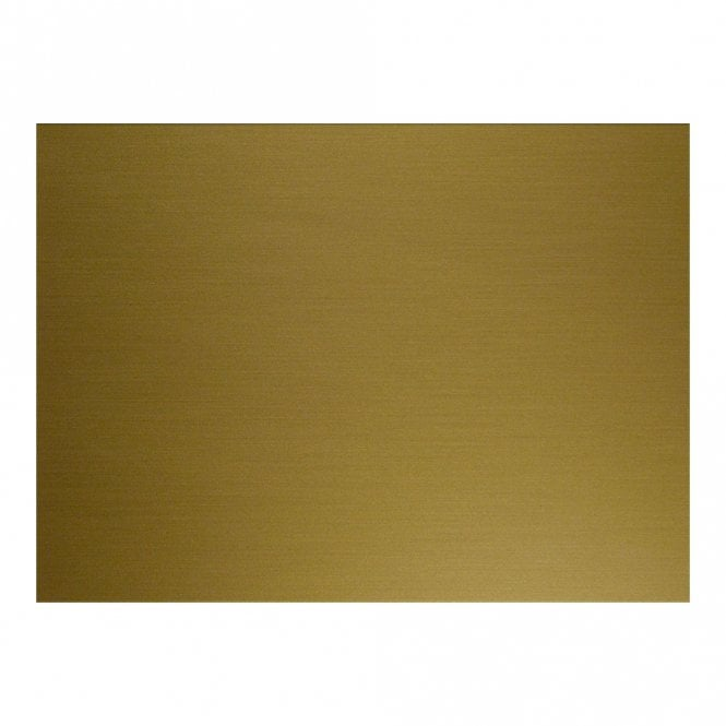 "WD Music BLANK BRUSHED GOLD (SIMULATED) 9"" X 15 1/2"