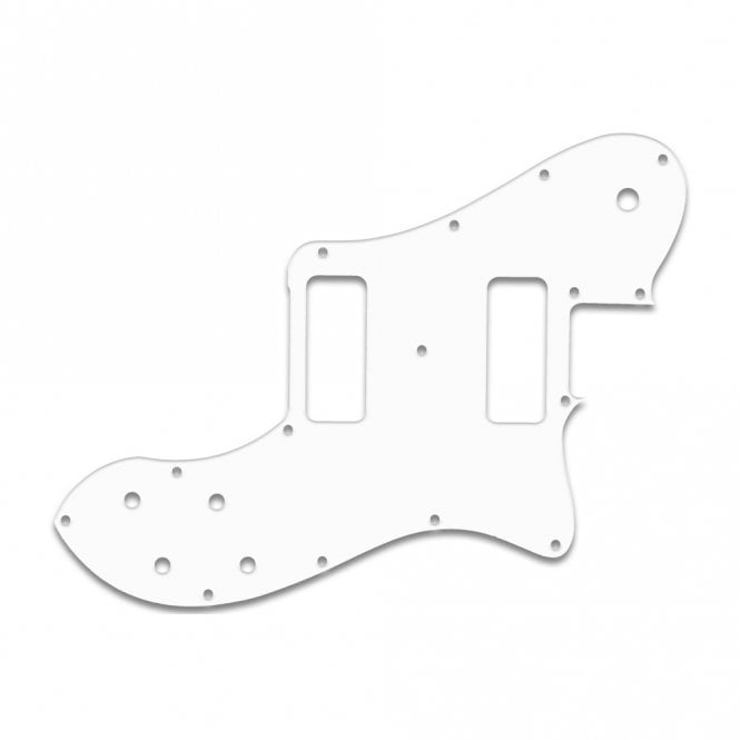"WD Music Classic Player Telecaster Deluxe Black Dove - Solid Shiny White .090"" / 2.29mm thick, with bevelled edge"