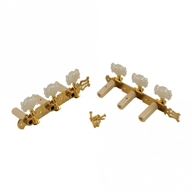WD Music Classical Tuners Gold with Pearl Buttons