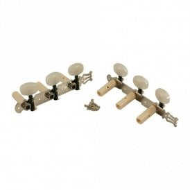 Classical Tuners Nickel Finish, White Pearl Buttons