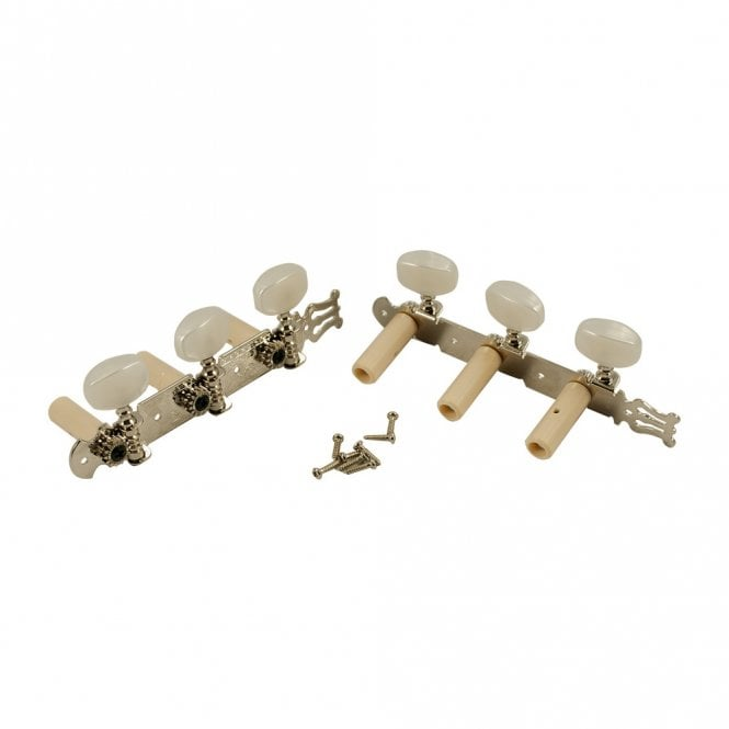 WD Music Classical Tuners Nickel with Pearl Buttons