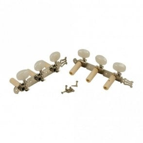 Classical Tuners Nickel with Pearl Buttons