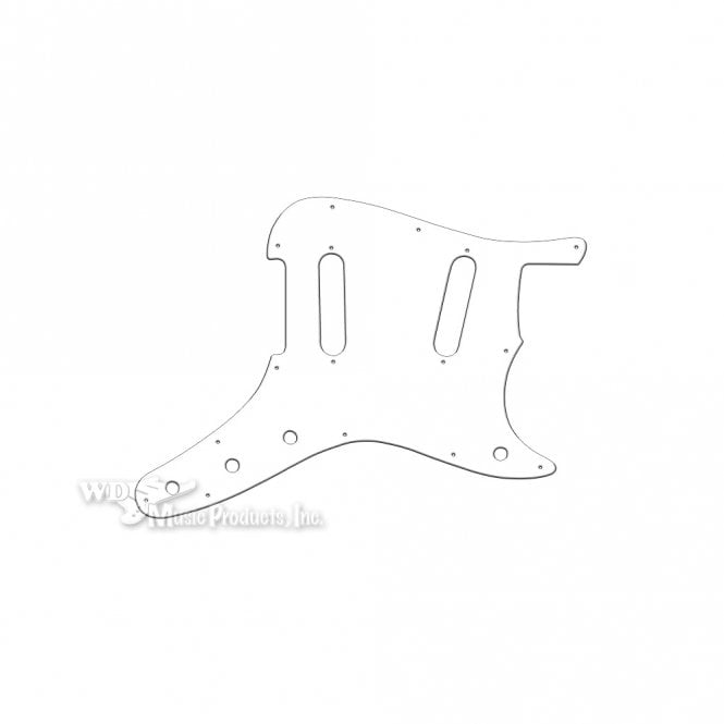 "WD Music Duosonic Replacement Pickguard for Original Models - Solid Shiny White .090"" / 2.29mm thick, with bevelled edge"