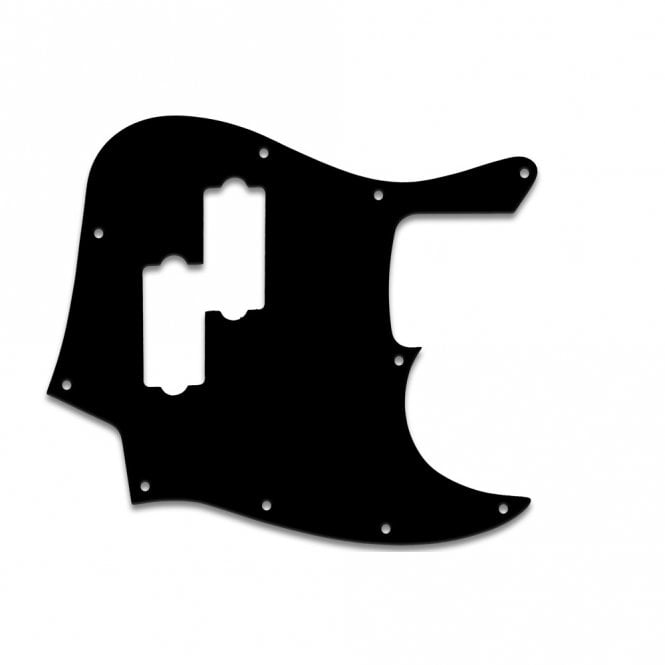 "WD Music Fender Blacktop Jazz Bass - Thin Shiny Black .060"" / 1.52mm Thickness, No Bevelled Edge"