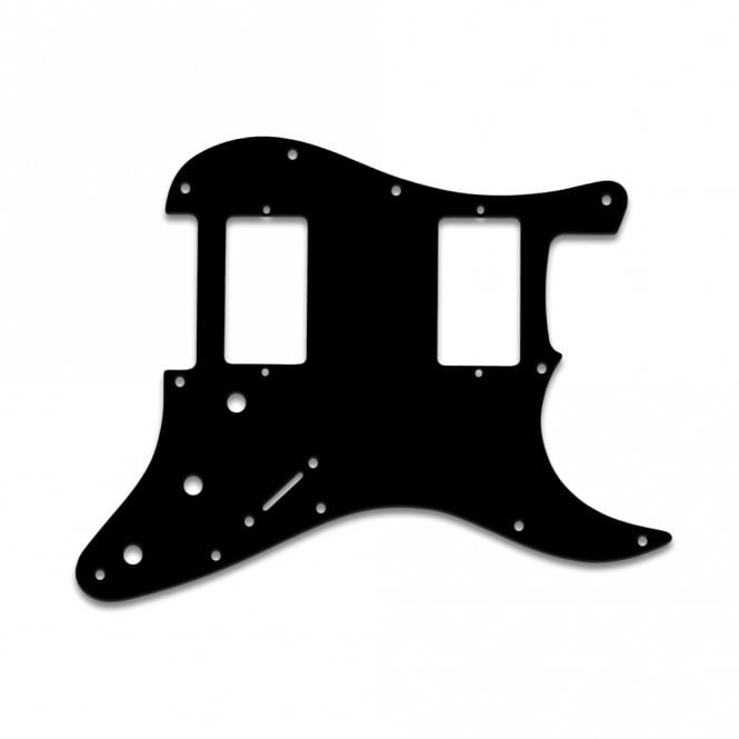 """WD Music Fender Blacktop Series Strat 2 Humbuckers - Solid Black .090"""" / 2.29mm thick with bevel"""