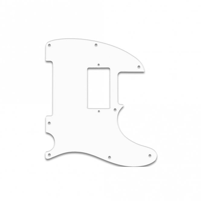 "WD Music Fender Blacktop Series Tele - Thin Shiny White .060"" / 1.52mm Thickness, No Bevelled Edge .060 No Bevel"