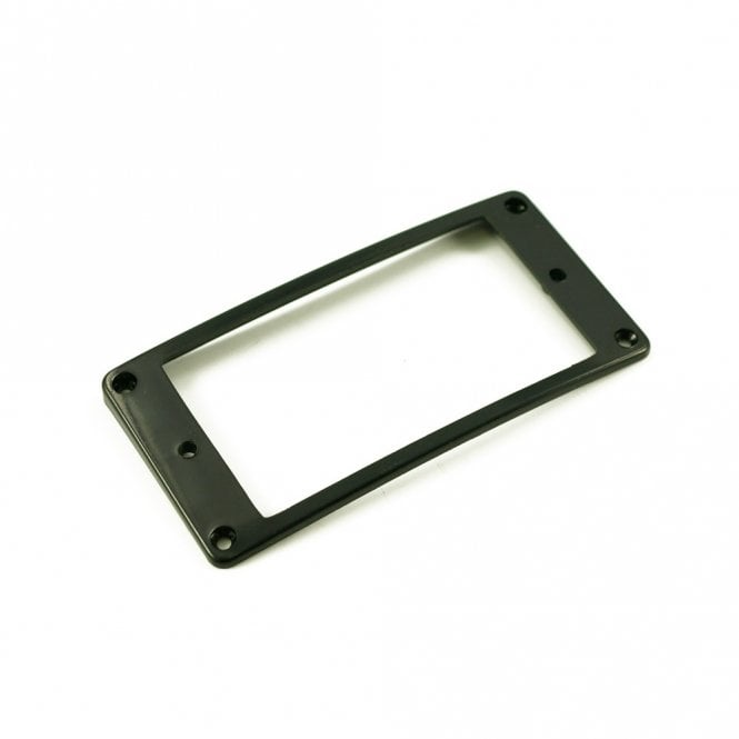 WD Music Humbucker Mounting Ring Low Black Arched